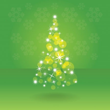 Shiny abstract christmas tree, illustration Vector