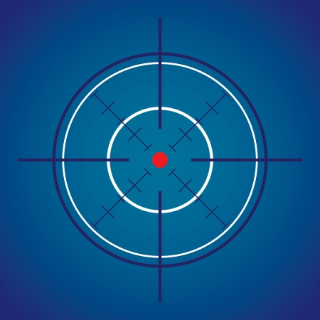 dark crosshair with red dot - illustration Stock Vector - 15173136