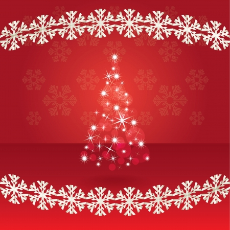 Shiny abstract christmas tree, illustration Stock Vector - 15360486