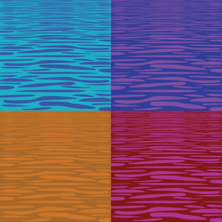warhol: four tranquil water pattern - illustration