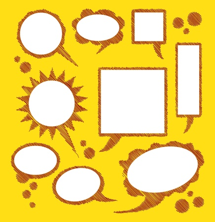 bubbles for text on yellow background - illustration Vector