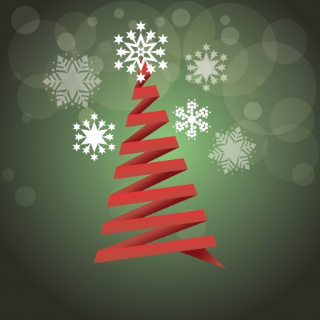 abstract christmas tree, stars and bubbles Vector