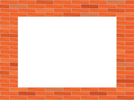 brick work: brick wall with big hole illustration