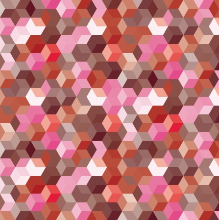 pixel art: Abstract background from color cubes, illustration