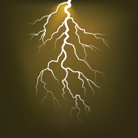 Lighting flash on the dark sky - illustration Vector