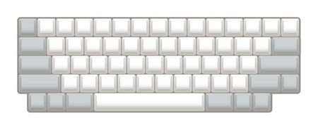 blank keyboard layout - realistic illustration Vector