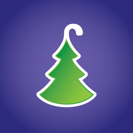 do not disturb: Hotel door tag christmas tree - concept Illustration