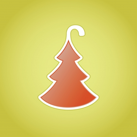 Hotel door tag christmas tree - concept Vector