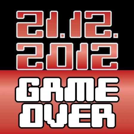 game over: 2012 date of apocalypse- Game Over - illustration Illustration