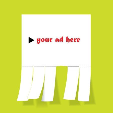 Blank advertisement with cut slips - illustration Stock Vector - 16720068