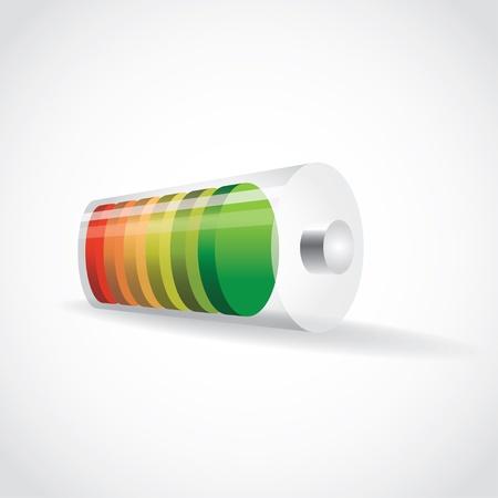 lading: batterij met kleur laadniveau, illustratie