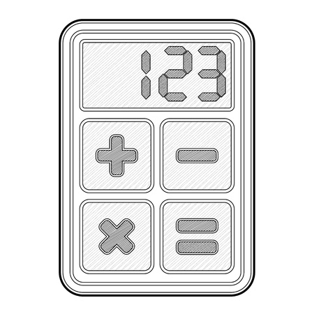 Calculator, application icon - isolated illustration Stock Vector - 16719962