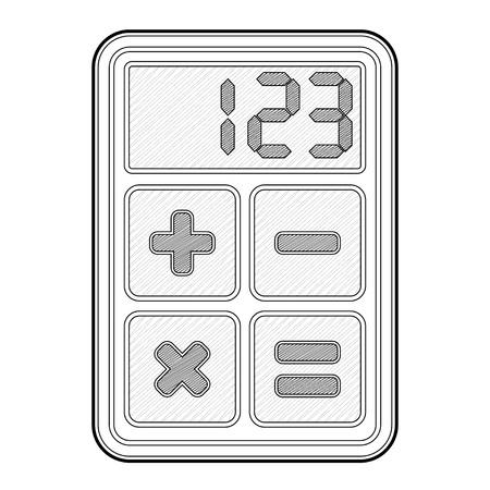 Calculator, application icon - isolated illustration Stock Vector - 16719962