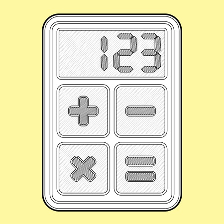 Calculator, application icon - isolated illustration
