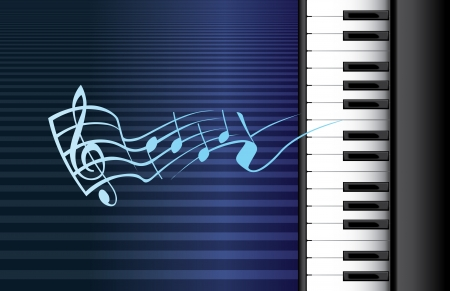 piano roll and music notes - illustration Stock Vector - 16720011