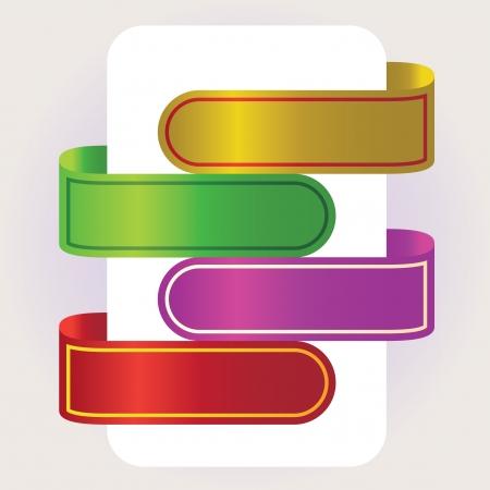 frame  box: Set of empty ad banners, illustration Illustration