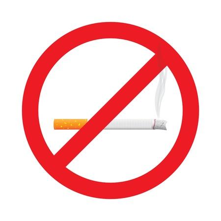 No smoking stop sign symbol, illustration Stock Vector - 16720013