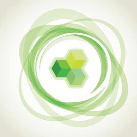 opacity: abstract green opacity rings, background illustration Illustration