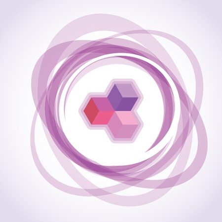 opacity: abstract violet opacity rings, background illustration