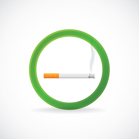 Smoking allowed sign symbol - illustration Vector