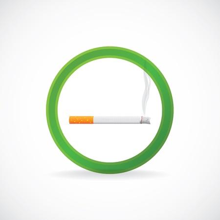 abstain: Smoking allowed sign symbol - illustration Illustration
