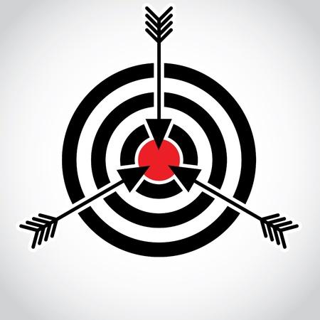 Flechas en un campo rojo sobre el blanco, ilustración Foto de archivo - 16719875