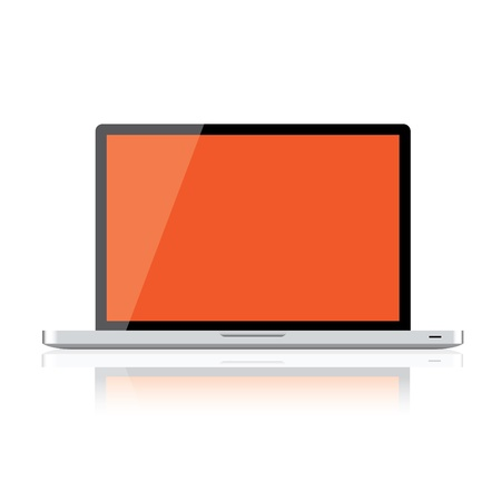 Laptop isolated on white background, clipping path included Stock Vector - 16857703