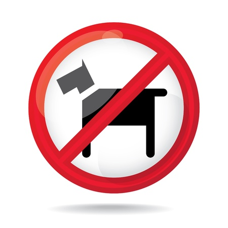 No dogs sign, do not allowed, illustration Stock Vector - 16857755