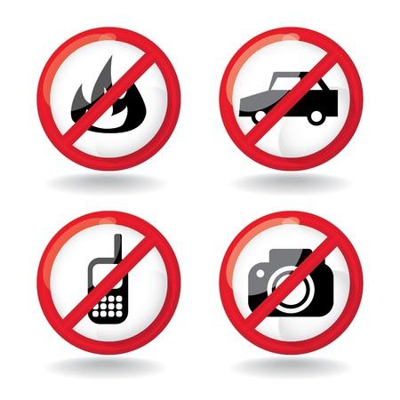 set of  do not  allowed symbols - illustration Stock Vector - 16857766