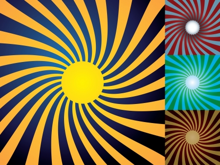 Set of abstract suns, illustration Stock Vector - 16857687