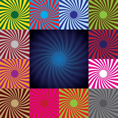 Set of abstract suns, illustration Vector