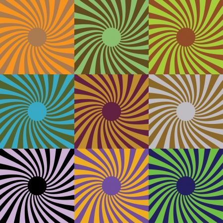 Set of abstract suns, illustration Stock Vector - 16857676
