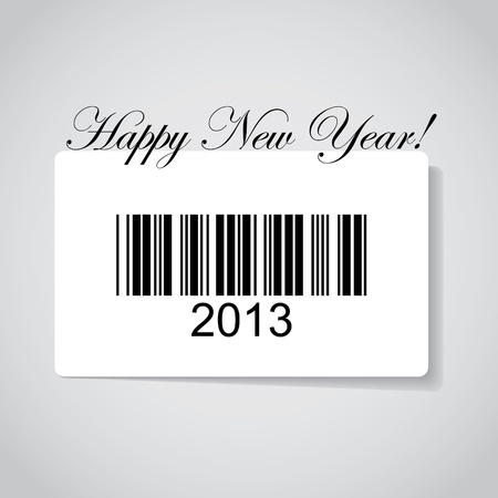 Happy new year 2013 in barcode - illustration Vector