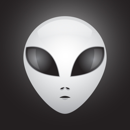 Alien entity from another world - illustration Vector