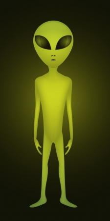 alien entity from other world - illustration Vector