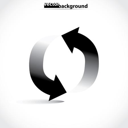 arrows in circle symbol, illustration Stock Vector - 17181500