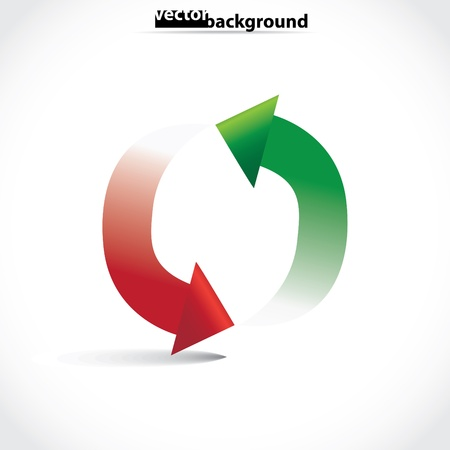 arrows in circle symbol, illustration Stock Vector - 17181525