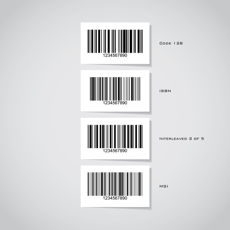 Set of barcode stickers - illustration Stock Vector - 17181490