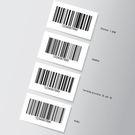 Set of barcode stickers - illustration Vector