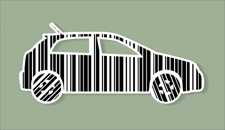 car as barcode, isolated illustration Stock Vector - 17181547