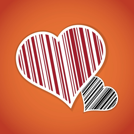 Barcode image with heart symbol - illustration Vector