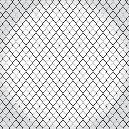 barbed wire frame: wired fence - illustartion