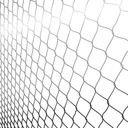 wire fence: wired fence in perspective - illustartion