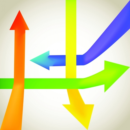 moving down: Color arrow going up and down - illustration