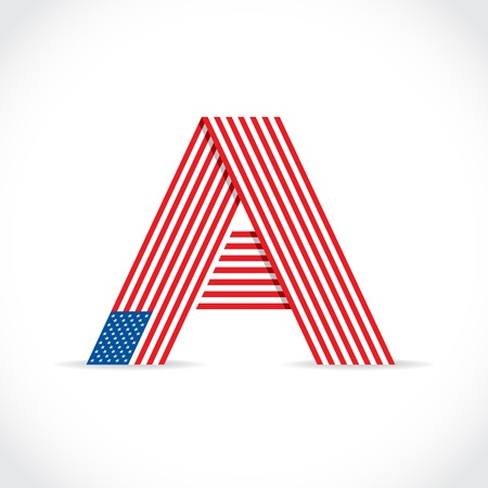 A as a symbol of america - Illustration Vector