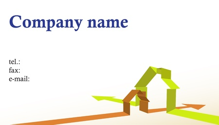 Business card for building company, illustration