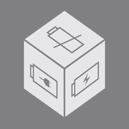 batteries symbols on a box - illustration Stock Vector - 17745001
