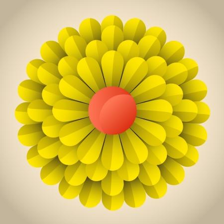 abstract blossom flower illustration Stock Vector - 17745037
