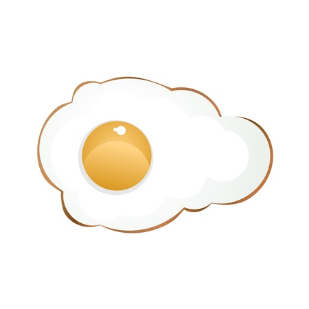 fryer: Fried egg for breakfast, illustration