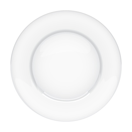 Isolated empty plate on white background Stock Vector - 17745036